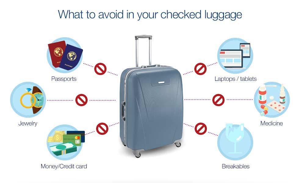 Consejos sencillos para su equipaje facturado