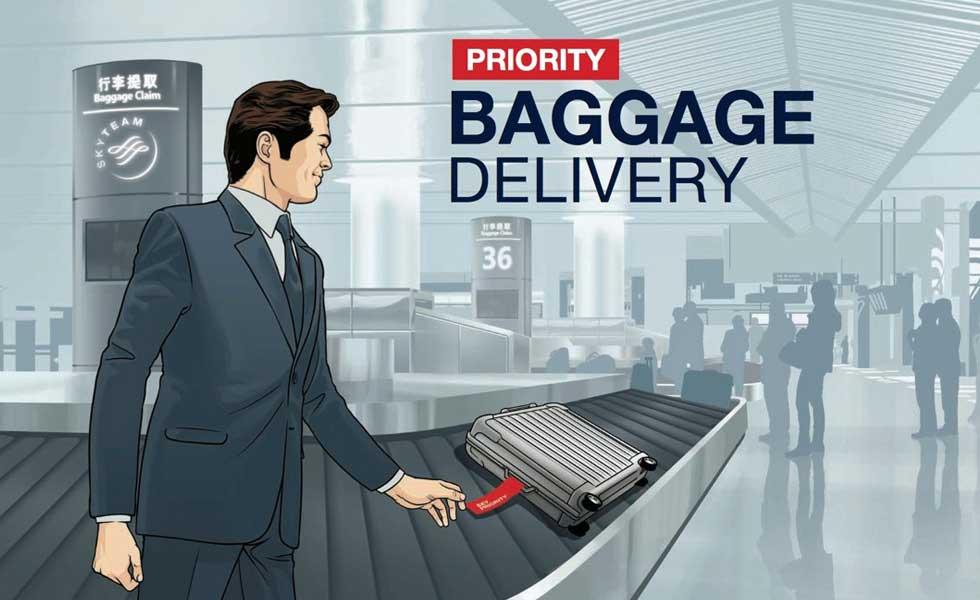 Priorität bei der Gepäckabfertigung