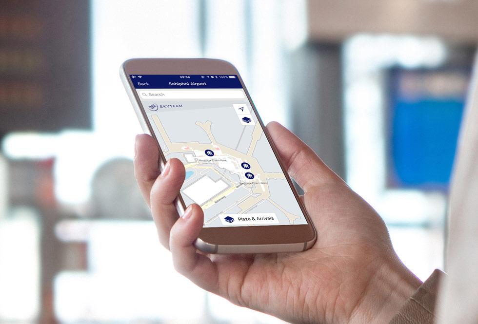 Ứng dụng của SkyTeam đưa các sân bay toàn cầu vào bản đồ