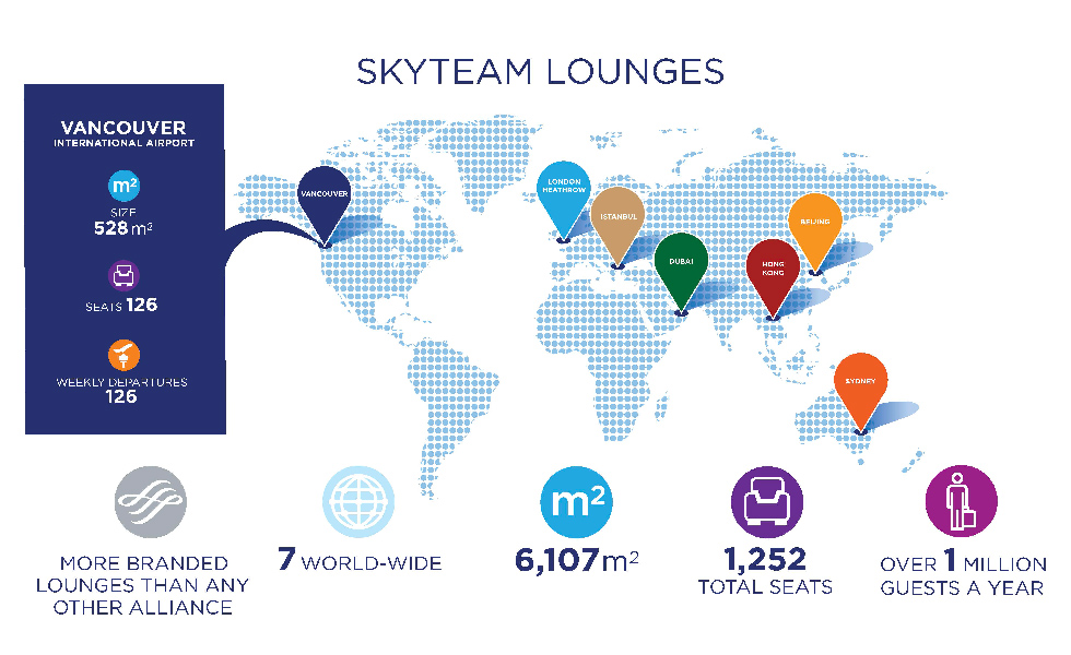SkyTeam's Lounge Takes Customers to New Heights at Vancouver International Airport
